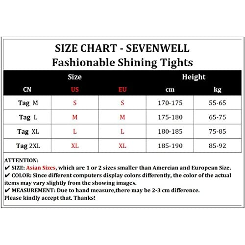 Sevenwell Men S Compression Training Shirt Shiny Gym Workout Fitness