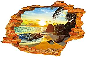 Beach Sunshine Fashion Creative Stereo Wall Sticker