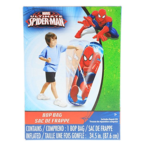 Inflatable Superhero (Marvel Spiderman Kids Inflatable Punching Bop Bag Exercise Toy)