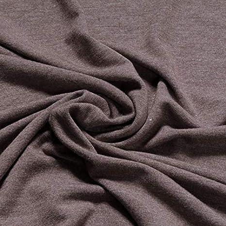 Tela de poliéster viscosa elastano Single Jersey color gris jaspeado camiseta de manga corta: Amazon.es: Hogar