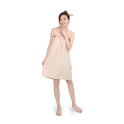 CHENGYI Falda de baño transpirable de color sólido Sauna Albornoz Pijamas de verano de sección delgada