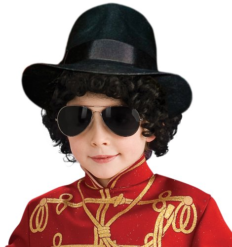 Michael Jackson Costume Accessory, Child's Fedora (Billie Jean Kids Costumes)