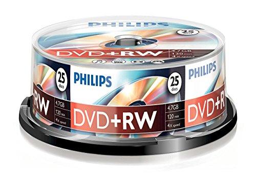 25 x DVD+RW - 4.7 GB 4x - Spindel by Philips