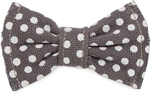- Pavilion Gift Company 45621 Pavilion's Pets - Small Gray Polka Dot Dog Slip On Bow Tie