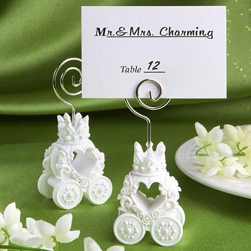 'Fairytale Royal Coach' Wedding Placecard Holders, 200 by Fashioncraft