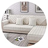 Grey Pink Plaid Quilted Plush sectional Sofa Cover slipcovers Furniture Couch Covers Sofa Protector Sofa fundas SP5623,Beige White per pic,90cm160cm 1piece