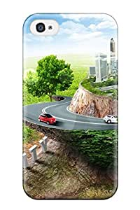 Durable City Back Case/cover For Iphone 4/4s