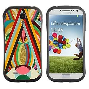 "Hypernova Slim Fit Dual Barniz Protector Caso Case Funda Para SAMSUNG Galaxy S4 IV / i9500 / i9515 / i9505G / SGH-i337 [Oro vibrante Colores Líneas Red Eye Pattern""]"