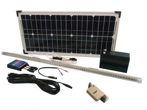 Kit pannello solare w illuminazione per laboratorio officina