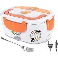 VOVOIR Boîte Chauffante Lunch Box Électrique Boîte à Lunch Thermique 12V/220V 2 in 1 40W Boîte Alimentaires Boîte Repas revêtement en Isolation en Acier Inoxydable Boîtes-Repas