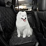 SmartyDogs Pet Seat Cover for Cars – Adjustable Waterproof Hammock Repels Drool, Pet Hair, Sharp Nails and Accidents – Breathable, Non-Slip Car Bench Protector – Machine Washable
