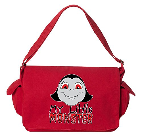 Monster Carrying Man Costume (Tenacitee My Little Monster Wolf Girl Red Brushed Canvas Messenger Bag)