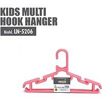 HOUZE LN-5206-PINK Kids Multi Hook Hanger, (Set of 5)