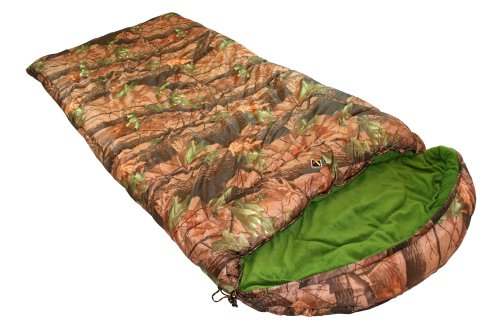 Ledge Sports Sitka +0 F Degree XL Oversize Shell, Fleece Lined Sleeping Bag (90 X 40, Camouflage), Outdoor Stuffs