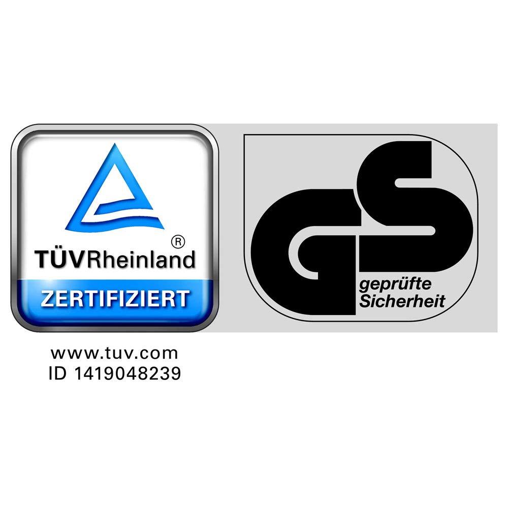 Intercon Aluleiter 4 Stufen rutschfeste Stehleiter Klappleiter EN 131 T/ÜV Rheinland GS
