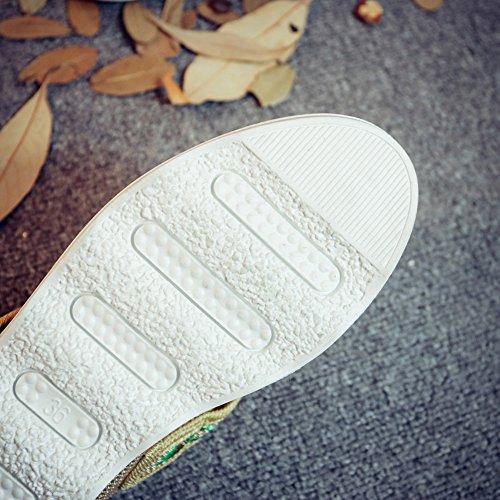 Insun Zapatos Mocasines Mujer de Bordado con Beige rrwU4zqx