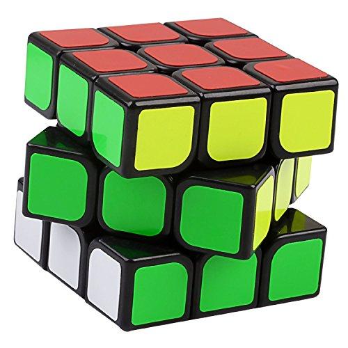 Rompecabezas-estilo-Cubo-Rubik-3x3x3-Hermosos-colores-brillantes-colocados-sobre-un-cuadro-negro-El-HERO-CUBE-es-un-cubo-mgico-rpido-y-resistente