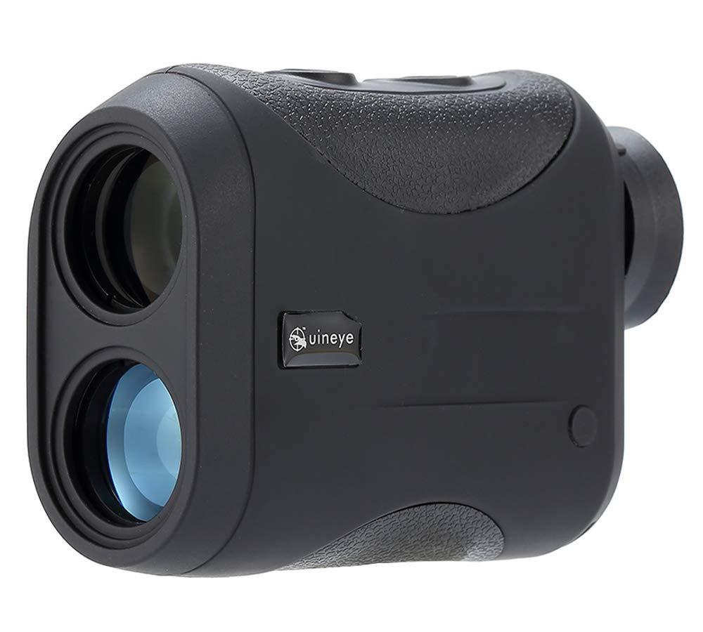 Uineye Golf Rangefinder - Range : 5-1312 Yards, 0.33 Yard Accuracy, Laser Rangefinder with Height, Angle, Horizontal Distance Measurement Perfect for Hunting, Golf, Engineering Survey (Black) by Uineye