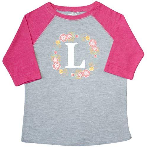 Monogrammed Toddler Clothes - inktastic Monogram Letter L Rose Floral