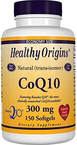 Healthy Origins Kaneka COQ10 Gels, 300 Mg, 150 Count