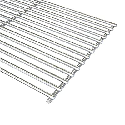 """FAS INDUSTRY Cladding BBQ Cooking Grate Replacement Parts for Weber 7527 9930 Spirit and Lowes, Outdoor Cooking Grill Grid for Weber Grill Parts Replacement- 11 3/4"""" x 17 1/4"""", Set of 2"""