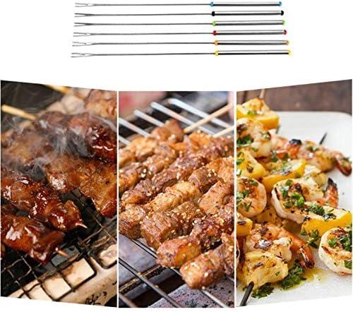 6 réutilisable Barbecue Brochettes rétractable Marshmallow Barbecue Bâton Fork Barbecue Outil