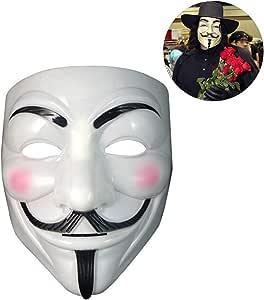 Julyfun Disrerk V para Vendetta Guy Fawkes Disfraz Cosplay Máscara ...