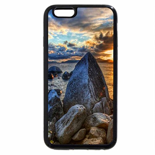 iPhone 6S / iPhone 6 Case (Black) magnificent rocky shore hdr