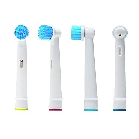 oral-q EBS17 – 4 Cabezales para cepillo de dientes eléctrico, compatibles con Braun