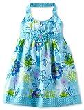 Young Hearts Girls 2-6X 1 Piece Woven Dress, Aqua, 4 image