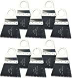 Oshlun MMS-1110 2-2/3-Inch Precision Japan HCS Oscillating Tool Blade for Fein SuperCut, 10-Pack