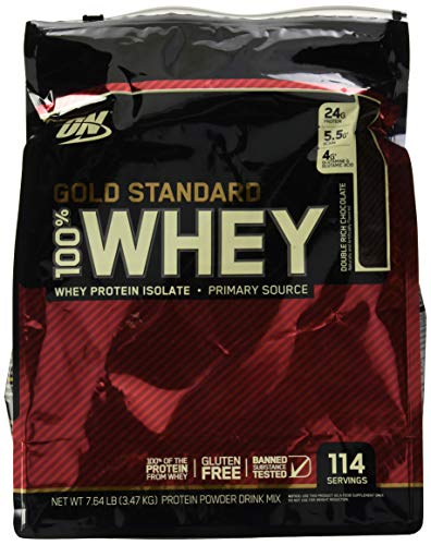 Optimum Nutrition Gold Standard 100% Whey, Double Rich Chocolate, 7.64 lb (3.47 kg)