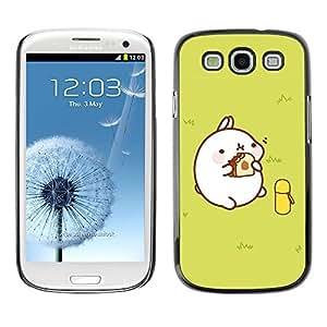 TopCaseStore / la caja del caucho duro de la cubierta de protección de la piel - Cute Fat Pig - Samsung Galaxy S3 I9300