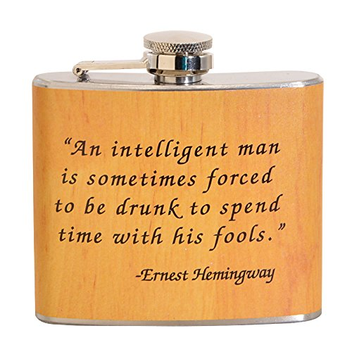 Ernest Hemingway Quote 5 oz. Stainless Steel Flask