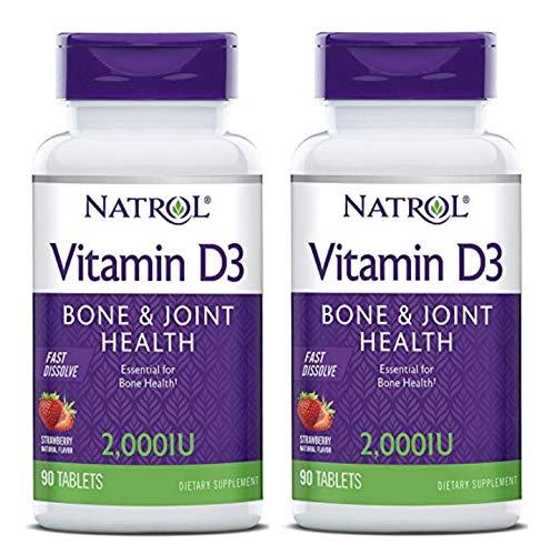 - Natrol Vitamin D3 2,000 IU Mini Tabs, Strawberry, 90 Count (2 Pack)