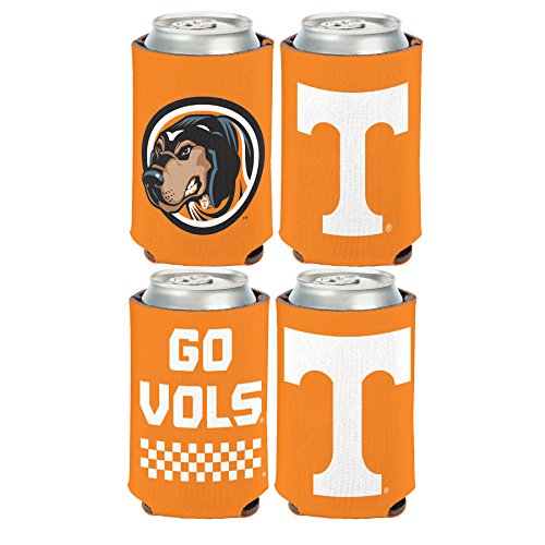 (WinCraft NCAA University of Tennessee Volunteers 2 Pack 12 oz. 2-Sided Can Coolers )