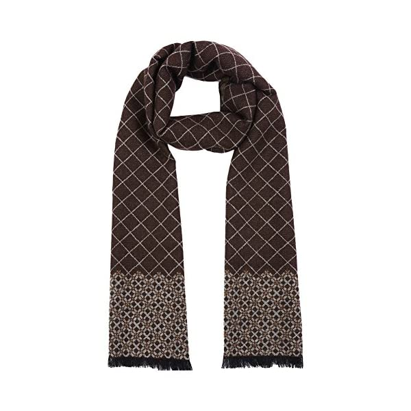 Vbiger Men Classic Plaid Scarf Soft Winter Scarf Double Sided Winter Warm Scarf Long Neckwear