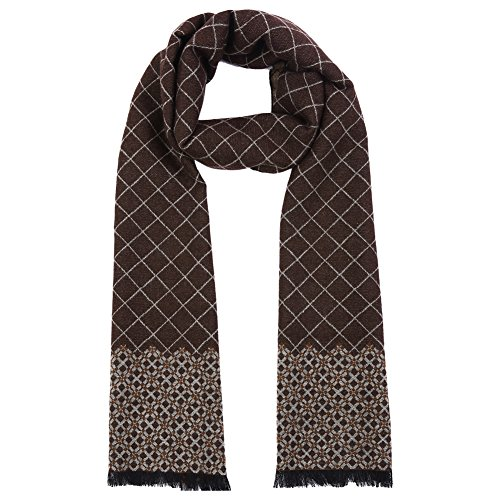 Vbiger Men Classic Plaid Scarf Soft Winter Scarf Double Sided Winter Warm Scarf Long Neckwear