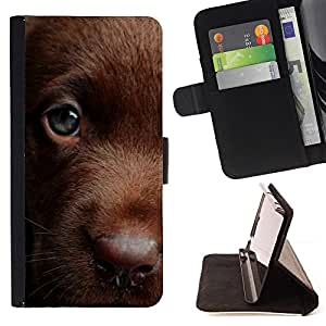 For HTC DESIRE 816 Chocolate Retriever Golden Labrador Leather Foilo Wallet Cover Case with Magnetic Closure