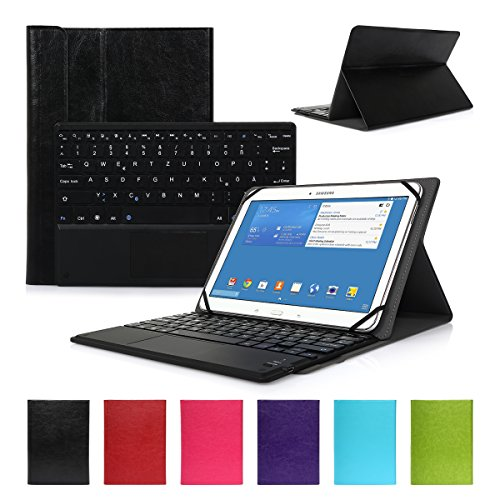 CoastCloud Ultra-Slim Folio Bluetooth Tastatur Hülle Keyboard Case für 10.1