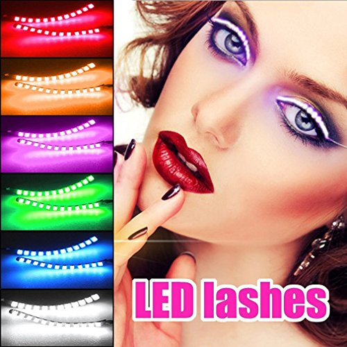 Unisex LED Light Eyelash Shining Eyeliner Waterproof Eyelid Tape 1: the battery lasts for up to 140 hours - - Hey, don't worry, there's no electricity on the way 2: microcomputer program control --- safety, stability 3: luminous flowing, dyna...