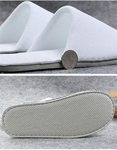 Pantofole Per Hotel / Spa, Scarpe Chiuse Per Gli Ospiti Festaiole Antiscivolo Chiuse A