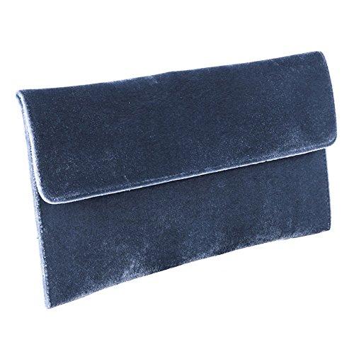 Borsa clutch, Clorinda Azzurra, in velluto