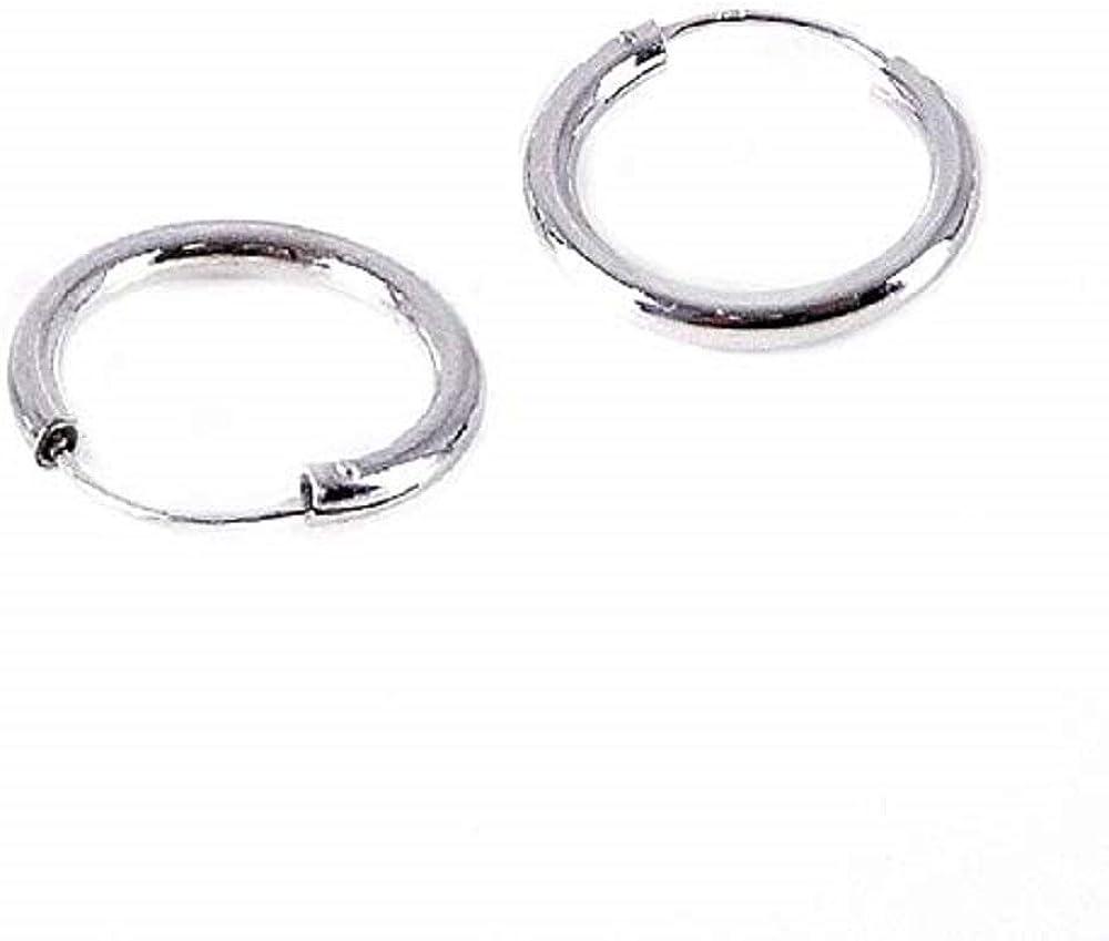 Orecchini Argento 925 Cerchio Spessore 2.5 mm Circonferenza da 14//16//18//20//25//30 mm