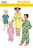 Simplicity Creative Patterns 1572 Toddlers' and Child's Sleepwear and Robe, AA (1/2-1-2)