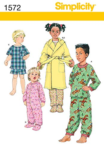 Simplicity 1572 Toddler and Child's Robe and Pajamas Sewing Patterns, Sizes 3-6 (Sewing Patterns For Toddler Boys)