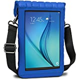 """USA Gear 7 Inch Tablet Case Sleeve Cover w/Built-in Screen Protector & Carry Strap (Blue) Fits Galaxy Tab E Lite 7"""", RCA Voyager 7"""", Supersonic 7"""", BLU Touchbook M7 Pro, More 7in Tablets"""