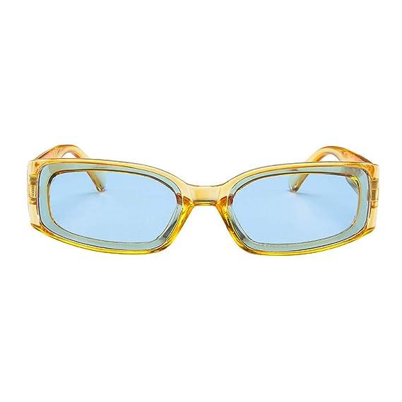 RISTHY Gafas de Sol Cuadradas Ligeras Vintage Unisex ...
