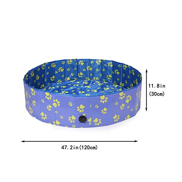 Pro Goleem Foldable Dog Pool Collapsible Pet Swimming Bathing Tub Kiddie Pools for Dogs Cats and Kids 3