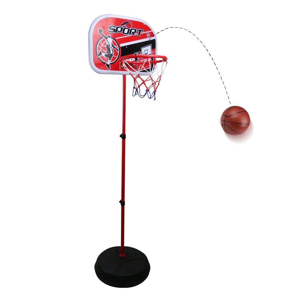 Canastas Baloncesto Niño Infantil con Balón Canasta Ajustable para Interiores y Exteriores